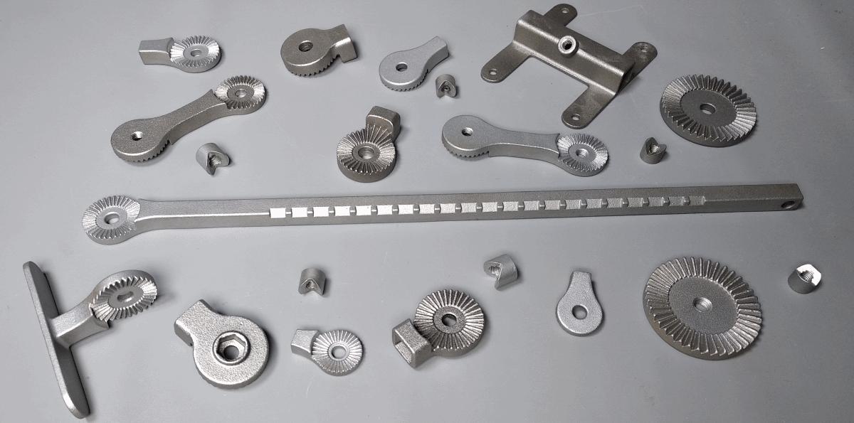 Cet ensemble de noix ou roue dentée sont utilisées dans orthopédie, la pêche et l'agriculture.